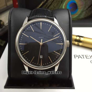 8 colors NEW Patrimony 85180 000R-9166 Black Dial Automatic Mens Watch Leather Strap Fashion 42mm Gents Business Watches Perfect Gift