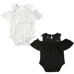 Newborn Kid Baby Girl Summer Floral Clothes Lace Ruffles Jumpsuit Bodysuit Outfits Summer Sleeveless Casual One Piece Clothing