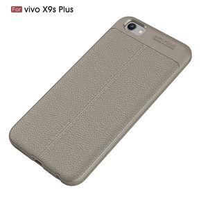 For VIVO X9S Plus Phone Case Thin Silicon Litchi Grain Premium Flexible Slim Thin Soft TPU Leather Back Cover