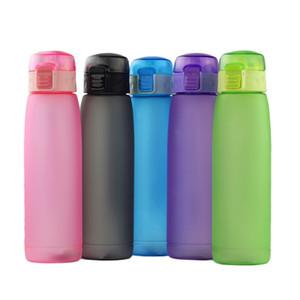 660ml bouteille d'eau de sport Gobelet plastique de tasses de voyage de tasses en plastique avec couvercle de couvercle de paille de déversement