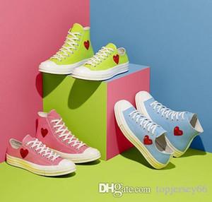 Novos 1970 Big Love Olhos Jogar lona Chuck 70 Coração 70 Hi 3s Skate sapatos cor de rosa azul da lona clássico sapatos verdes Conjuntamente Nome skate Casual