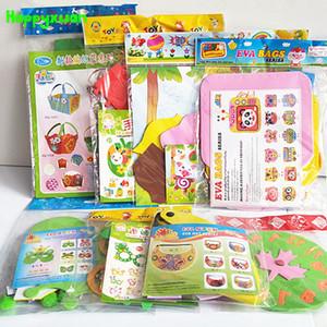 Happyxuan 8 Diseños / lot Kids Diy Kits de Craft Art Set Eva Foam Stickers Kindergarten Creativo Hecho A Mano Juguete Educativo Girls Regalo J190521
