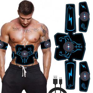 USB électrique rechargeable abdominale Muscle Stimulator formateur ABS Body Fitness Massage EMS Électrostimulateur Toner exerciseur Freeshipping
