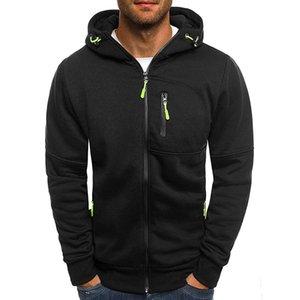 Casual Hoodie Hip Pocket Hoodies Hop Tracksuit Zipper Sweatshirt Long Sleeve Sportswear Size Mens Fashion Plus Men Dropshipping Okdja