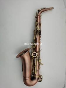 العلامة التجارية المحترفة Eb Tune Alto Saxophone Red Bronze Bend e stat Musical instruments With Case Supplies Free Shipping