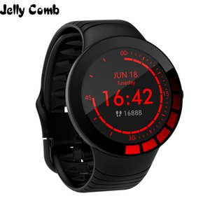Wearable Devices Watches Jelly Comb Men Sport Smart Watch Waterproof IP68 Heart Rate Smart Watch for Huawei ios Full Touch Bluetooth