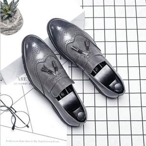 Big Size italian tassel business Formal Dress Men leather loafer formal dress flats office oxford shoes for men 229