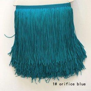 20 m / lot 15 cm Polyester Tassel Fringe chiffrement double fil Dentelles pour le latin Robe rideau Tissu Accessoires Diy