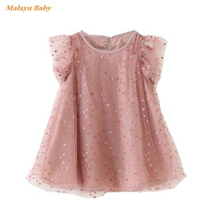 Malayu Baby girl dress 2020 new summer Kids clothing cotton gauze girl princess dress polka dot lotus leaf cute vestidos