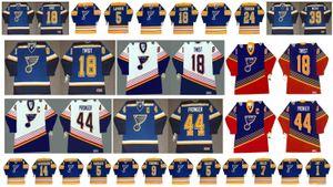 St. Louis Blues Vintage Jersey 44 Chris Pronger 18 Doug Gilmour 24 Bernie Federko 39 Doug Weight 18 Tony Twist 7 Keith Tkachuk Hockey retro