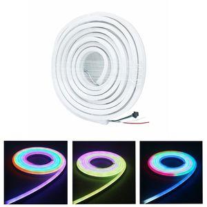 Edison2011 5m Ws2811 LED Neon Lights bande Dc 12v adressable Neon Led Rgb intelligent Pixel Bandes étanche IP67 Ws2812 Led Neon Strip
