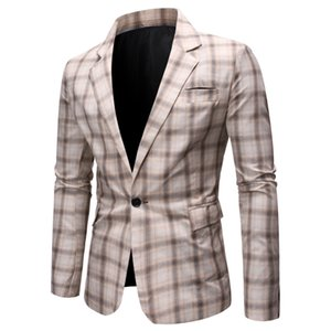 2019 new autumn and winter leisure suit foreign trade cross-border electricity supply business men plaid suit jacket 8802