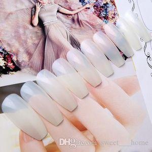 600PCS Long Ballerina Half Nail Tips Clear Coffin False Nails ABS Artificial DIY False Fake UV Gel Nail Art Tips High Quality