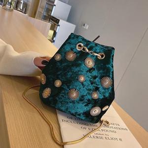 Роскошные сумки женские сумки дизайнерская цепочка маленькая сумка через плечо ведро Сумки для женщин плечо бархатная сумка бесплатная доставка