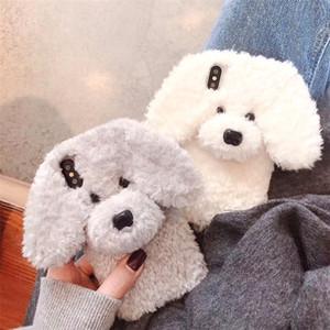 اعتصامات الأزياء الكرتون الحالات الهاتف الكلب نموذج الكلب لطيف الحالات الهاتف الخليوي أفخم لونين اختياري