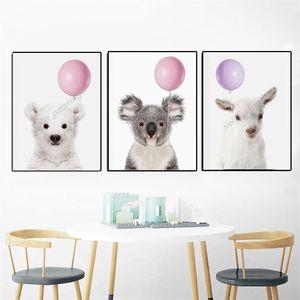 Animal Pig Sheep Koala Sheep Art Nordic Canvas Painting Kid Print Minimalist Picture Children Room Home Decor
