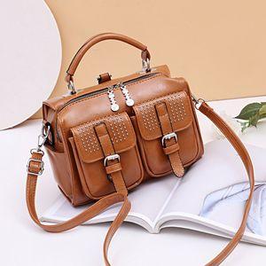 Boston bag ladies handbags 2020 new high-capacity portable shoulder Messenger bag fashion wild black bag