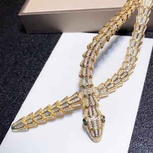 Popular top python necklace ladies high quality jewelry snake pendant thick necklace necklace beautifully customized luxurious jewelry