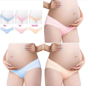 Bajo-cintura de las bragas de las nuevas mujeres embarazadas 2018 Breves sólido Ropa interior de maternidad Embarazo ropa interior de escritos de las mujeres más el tamaño M-2XL