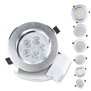 Downlight LED 3W 5W 7W 9W 12W 15W Lámpara de techo LED empotrada 85-265V Incluye controlador LED Panel de luz Bombilla de punto para sala de estar Down Lights