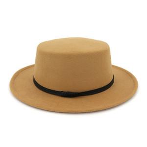 2020 ultimo feltro di lana Fedora Panama Lady delle donne Cappello di lana tesa larga esterna casuale Jazz Cap 5 colori