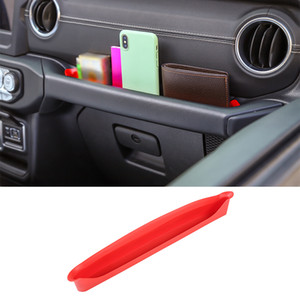 Red Car Copilot Armrest Storage Box For Jeep Wrangler JL 2018 Factory Outlet High Quatlity Auto Internal Accessories