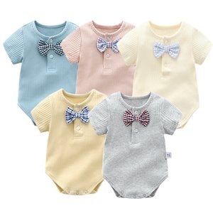 Super soft cotton baby rompers short sleeves overalls Newborn baby clothes infant outfit sets