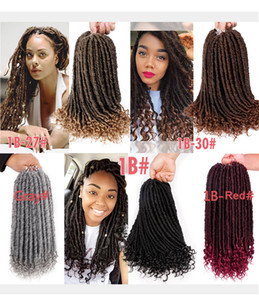 Free Shipping Goddess Faux Locs Crochet Hair with Curly End Soft Crochet Braids Synthetic Braiding Hair Extension 16 20 Inch 24 Strands Pack