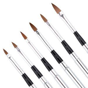 6 PCS Um projeto Gel Set Nail Art UV Polish Desenho 3D Pintura Detalhamento Pen Brush Tool, tamanho differen