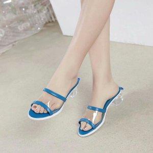 2020 Nuovo superiore Colorful Mules pantofole dal design di lusso dimensioni pantofole Mules PVC agnello basso delle donne scarpa tacco Moda 35-41