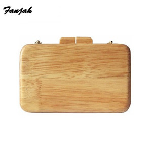 nature wood fashion party special wedding bag solid wooden girl handbag wallet purse shoulder evening flap Female fashion bags