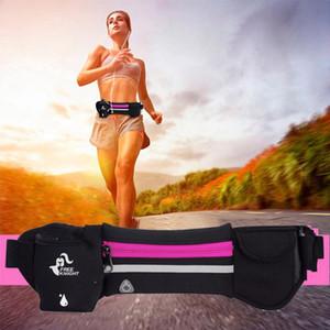 Bolsa de deporte al aire libre Correr cintura bolsa multifunción Deportes impermeable anti-robo de cremallera bolsas correa del paquete de bolsas de ciclismo del vago