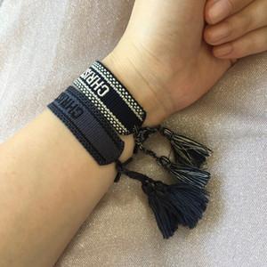 2pcs / set Multicolor Quaste Armband-handgemachte Freundschaftsbänder Bohemian Strand Armband Sommergeschenke für Männer Frauen Jugendliche
