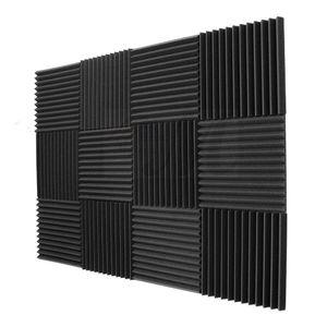 Акустические панели из пеноматериала Инженерной Губки клиньев 1дюймов X 12 дюймов X 12 дюймов 12 Упаковки звукоизоляционных панелей