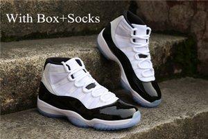 Sapatos alta J11 Homens Basketball originais Baixa Concord Classic Esporte Sneakers Hot Comfort resistente ao desgaste Factory Outlet