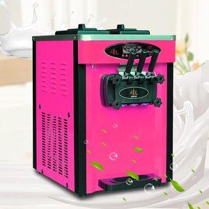 fabricantes de máquinas de acero inoxidable helado 2020 nueva de escritorio de la máquina de hielo suave crema de 3 sabores de helado máquina de la toma de