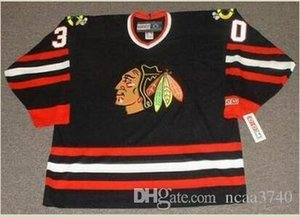 Özel erkekler Gençlik kadınlar Vintage # 30 D Belfour Chicago Blackhawks 1992,1996 CCM hokeyi Jersey boyutu S-5XL veya özel herhangi bir isim veya numara