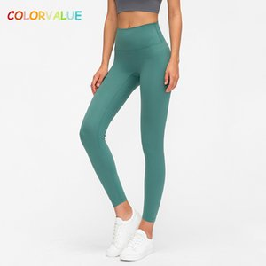 Colorvalue Classical 3.0 Version Soft Naked-feel Workout Gym Yoga Tights Women Squatproof High Waist Fitness Sport Leggings XS-L T200530