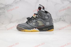 xshfbcl high quality off Cream Jumpman 5 5s 3m Metallic shoelace gray Mens Basketball Shoes Athletic Sport Sneakers progettista Trainers