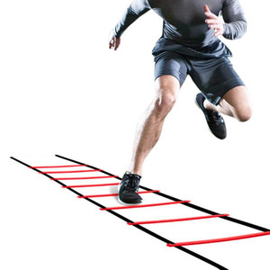Adjustable 5M 10Rung Nylon Straps Training Stairs Agility Ladders Soccer Football Tab Speed Ladder Sports Fitness Equipment