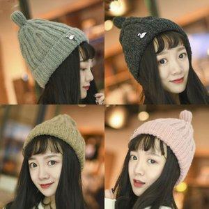 Şık Kadınlar Kızlar Pamuklu Örme Tığ Baskı Beanies Cap Şapka Yeni hımbıl Büyük Boy Kalın Yumuşak Stretch kap Hat Slouch Beanie