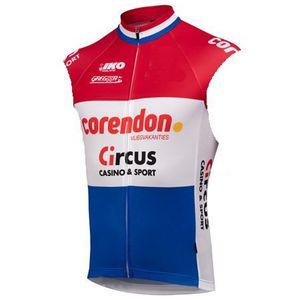 SPTGRVO LairschDan 2019 الرجال CORENDON-TEAM السيرك بلا أكمام ركوب الدراجات جيرسي ملابس نسائية مايوه ciclismo سترة قميص الدراجة