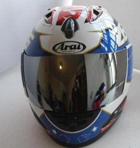 ARAI Мотоцикл шлет полная шлет шлет ARAI мотоцикла анфас ЕС синий, Capacete / Unisex, каско De Moto
