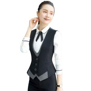 4XL irregular remiendo sin mangas de la chaqueta femenina 2020 nuevo tamaño extra grande de trabajo Chaleco Office Lady carrera chaleco Gilet verano Mujeres