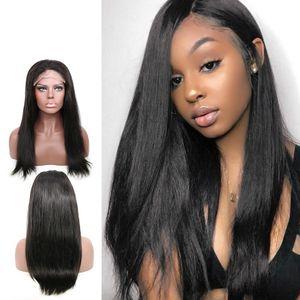 Lace Closure Perücke brasilianisches Jungfrau-Haar gerade Spitze-Frontmenschenhaar-Perücken für schwarze Frauen Pre Zupforchester Perücken