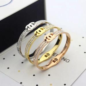 De acero 316L de aceite carta gota hebilla de correa de la marca de moda encanto pulsera de mujer de 18 quilates de oro correa de pulsera par envío