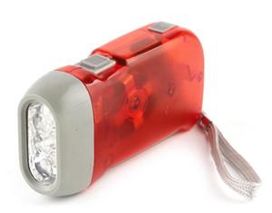 Spedizione gratuita Outdoor 3 LED torcia a mano torcia Nessuna batteria Windgrip dinamo torcia luce torcia campeggio luce flash portatile