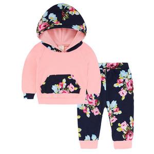 신생아 유아 아기 소녀 까마귀 + 바지를 2PC 옷 의류 세트 가을 겨울 아기 의류 세트 탑