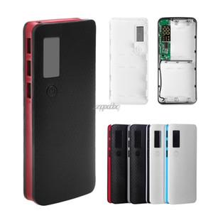 3 Portas USB 5x18650 DIY celular externo Bateria Portátil telefone de backup LCD Display Power Bank Caso caixa capa sem bateria navio da gota
