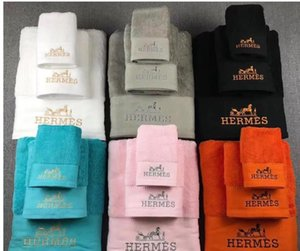 (Mit Kasten) Brief Stickerei Baumwolltuch Art und Weise 3PCS weiche Handtuch-Sets reines Farben-Geschenk-Kasten-Tuch
